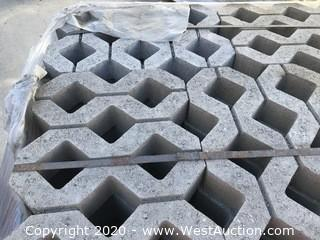 """Calstone Turfstone 16"""" x 24"""" x 80mm Thick Permeable Gray"""
