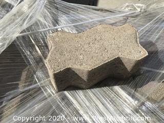"""Universal Paver Gray Roughly 4.5"""" x 9"""" x 100mm Thick"""