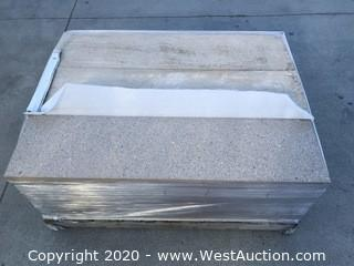 Stepstone 1' x 4' Almond Color Medium Sand Blast With Slag Paver