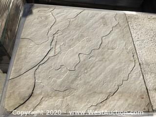 "Stepstone Sonora Stone Granda White 24"" x 24"" x 2"" Thick (Some Chipped)"