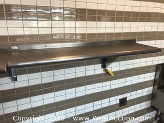 "Stainless Steel Wall Shelf 48""x12"""