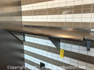 "Stainless Steel Wall Shelf 48""x15"""