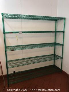 """Eagle Green Exposy Wire Shelf Rack 72""""x75""""x18"""""""