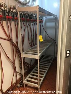 """Stainless Steel Shelf Rack 80""""x17.5""""x76"""""""