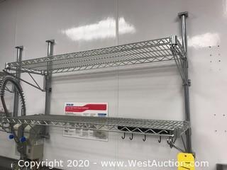 NSF 2-Shelf Wire Wall Shelf Rack