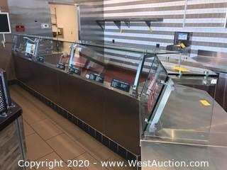 Glass Protective Display For Food Service Counters