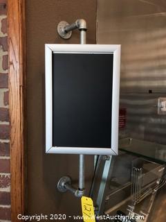 Custom Swiveling Sign Display