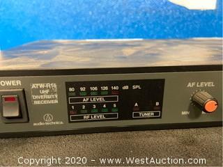 (2) Audio Technica ATW-R14 UHF Diversity Receivers