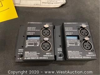 (2) QSC SF-3 Subwoofer Filters