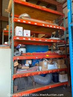 Contents of Pallet Racking - Ducting, Fencing, Cable, Roofing Supplies