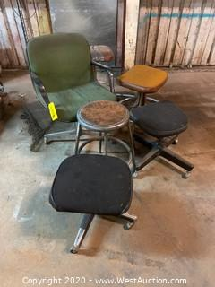 Bulk Lot: Chairs And Stools
