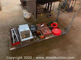 Cart with Ratchet Set, Leveling Device, Fishing Tapes