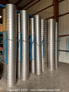(10) Pieces Of Stainless Steel Rigid Ducting