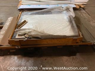 Pallet of 4'8' Sheets of Melamine and Light Up White Board