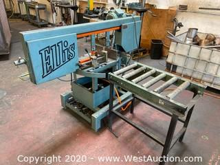 Ellis 1800 Mitre Band Saw with Stock Conveyor Table