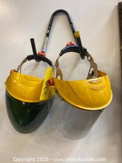 (2) Welding Masks and Hanger
