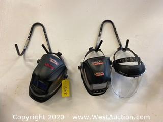 (3) Welding Masks and Hangers