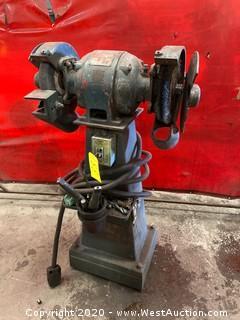 Standard Electrical 100 Pedestal Bench Grinder