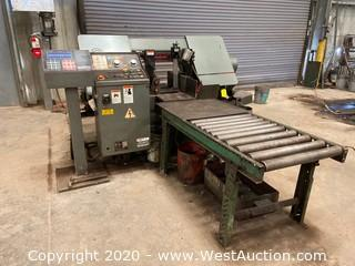 Spartan PA13/3 Production Band Saw and Stock Conveyor Table
