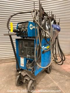 Miller CP-300 DC Mig Welder with Miller 24 A Wire Feeder