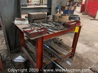 Metal Work Table (Includes Drill Bits)