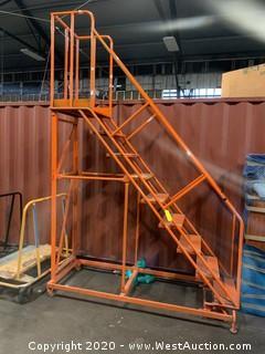 9' Heavy Duty Rolling Warehouse Ladder Ballymore