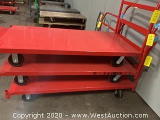 (1) Red Metal Pushcart