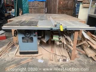 """Delta Unisaw 10"""" Tilting Arbor Saw Table Saw with Feed"""