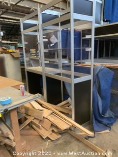 (16) 7' H Metal Framed Promotional Booths for Fairs & Trade Shows with Forkliftable Base Plate