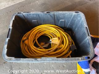 Bin of Power Cable, RV's Flag, Oversize Load Flag