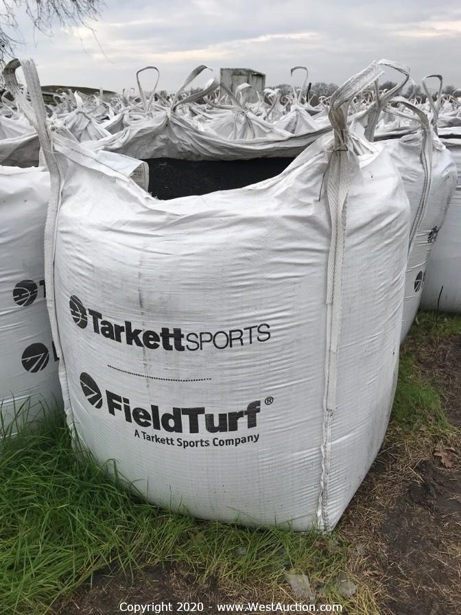 (350) Bags Rubber Crumb/Sand Mixture & (50) Strips of Commercial Grade Artificial Grass Turf