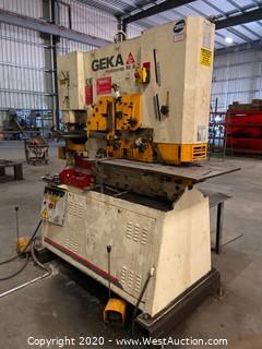Geka Hydracrop 80S Punch and Shear Ironworker (80 Ton)
