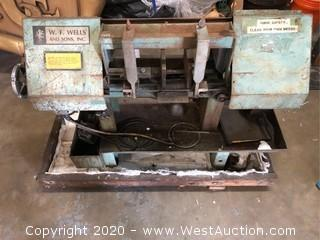 W.F. Wells and Sons Horizontal Metal Band Saw