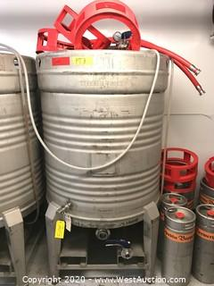 1985 Steuben Foods 800 Liter Stainless Steel Portable Tanks