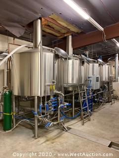 Global Stainless 15 bbl 5-Vessel Production Brewhouse