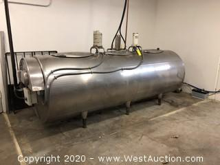 650 Gallon Stainless Steel CL Tank with Controls