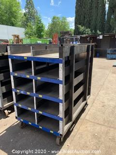 Metal Stock Rack on Casters
