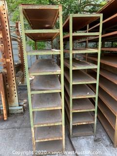 "(2) Welded Steel Shelves 74""x18""x78"""