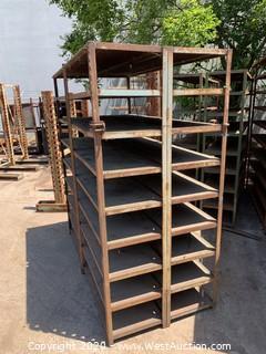 """Welded Steel Shelf Unit 74""""x36""""x78"""""""