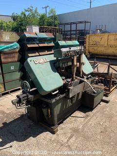 DoAll C57 Horizontal Band Saw with Conveyor Attachments