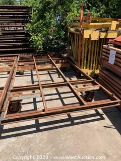 "Steel Frame Platform on 2-Swivel and 2-Rigid 10"" Casters"