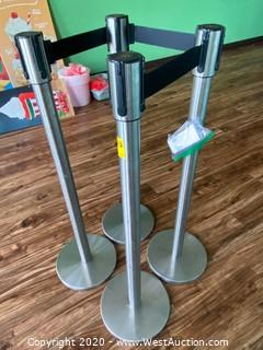 (4) Beltway Crowd Control Stanchions