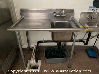 Eagle Group Stainless Steel Sink with Drainboard Side