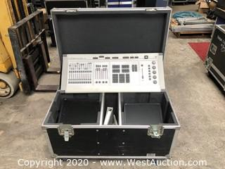 ETC Expression 3 Lighting Console and Monitor in Road Case