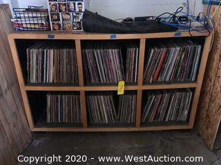 Shelf With Approximately (575) Various Rock/Soul Records