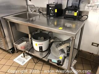 Stainless Steel Prep Table/Work Station with Sink