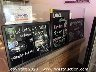 (3) Black Board Menu Signs