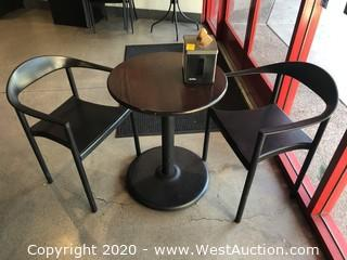 (1)  Bistro Table And (2) Chairs