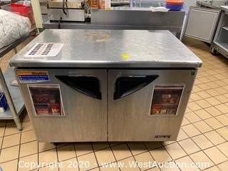 Turbo Air Two Door Under Counter Refrigerator