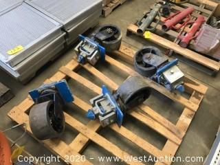(4) Sea Container Casters